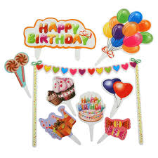 balloon wholesale 2017 wholesale balloon happy birthday cake topper set kids baby