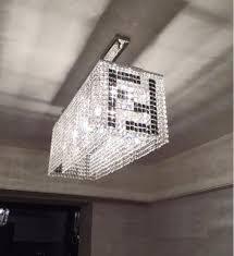 Modern Crystal Chandeliers Modern Rectangular Linear Crystal Chandelier Pendant Lighting