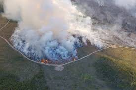 Wildfire Quesnel by Video B C Wildfires Burn Into Single Large Blaze Barriere