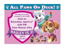 pink birthday invitations free printable paw patrol birthday invitation ideas drevio