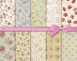 shabby chic wrapping paper shabby chic paper etsy
