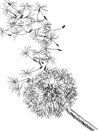 the kitchen table crafter free digi sketch dandelion in the wind