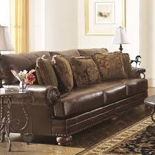 ashley furniture barcelona sofa ashley furniture chaling leather sofa in antique 9920038