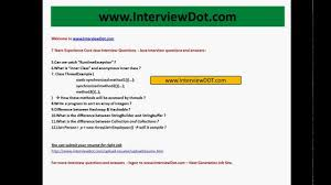 Best Resume For 3 Years Experience by 7 Years Experienced Core Java Interview Questions Job Interview