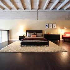 Black And Red Shaggy Rugs Bedroom With Black And Red Funiture With Shag Rug And Hardwood