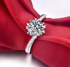 snowflake engagement ring online shop wholesale noble snowflake 1 carat simulate diamond