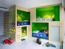 kids room amazing functional green modern kids four bunkbed with