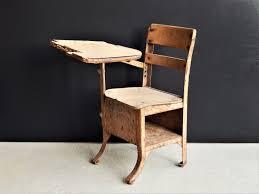 Small Wooden Desk Small Vintage Desk Antique Desk Wood U0026 Metal