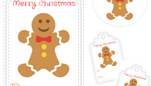 printable gingerbread man gift tags print these round christmas gift tags inspired from vintage