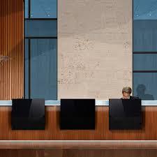 Illuminated Reception Desk Illuminated Reception Desk Wooden Stainless Steel Leather