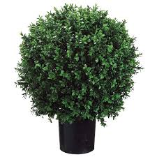Hanging Topiary Artificial Boxwood Ball Hanging Topiary Balls In Planters Green