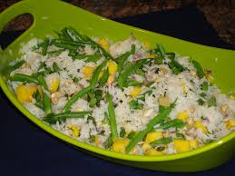 lemon curry chicken with mango basmati rice salad taste by taste