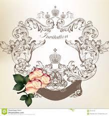 Vintage Wedding Invitation Card Vintage Wedding Invitation Card Frame With Roses Stock Vector