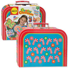 amazon com alex toys crafts crafty christmas kit with suitcase