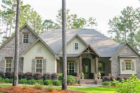 craftsman house plan with rustic exterior and bonus above the