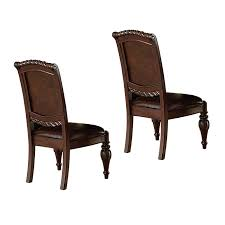 steve silver ay600s antoinette side chair in warm brown cherry