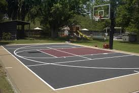 Basketball Court In Backyard Cost by Basketball Court Dimensions Hoops Blog Notice The Modified 3 Point