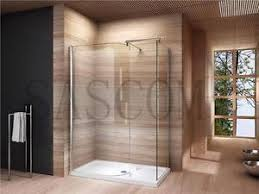 1400 Shower Door Walk In Shower Enclosure Cubicle Tray Curved Glass Screen 1200