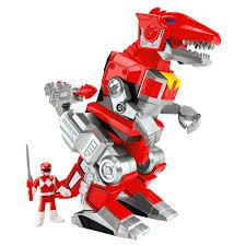 imaginext power rangers red ranger rex zord