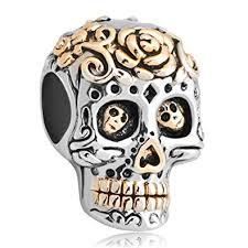 skull bracelet charm images Fit pandora charms silver plated dia de los muertos jpg
