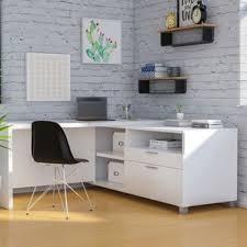 executive white desks you u0027ll love wayfair