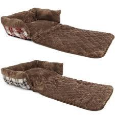 bunty stirling dog bed soft washable tartan fabric cushion sofa