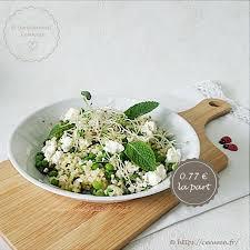 comment cuisiner du boulgour salade composée boulgour petits pois feta menthe comme un