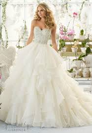 gorgeous cascading ruffle white wedding dresses with beads sequins