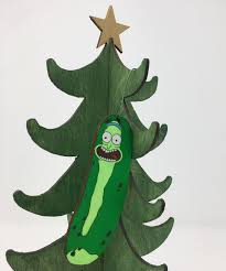 pickle rick ornament i turned myself into an ornament