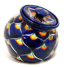talavera pottery canister hand painted cookie jar cookie jars