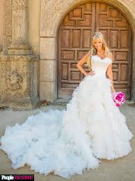 Fairytale Wedding Dresses Photos Of Paige Hemmis U0027s Wedding Gown Exclusive