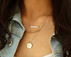 bar gold necklace images Layered gold necklace set simple dainty bar necklace with jpg
