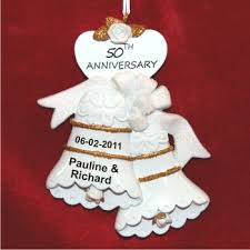 anniversary ornament 50th anniversary personalized christmas ornaments by