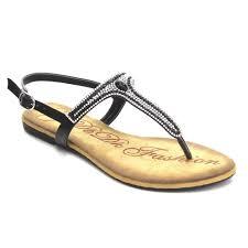 dbdk ab65 women u0027s rhinestones thong flat heel slingback strappy