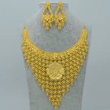 gold necklace india images Anniyo dubai luxury jewelry set wedding dowry gold color copper jpg