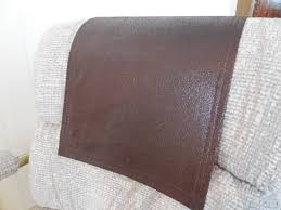 leather sofa arm covers chair recliner headrest cap leather look animal friendly it u0027s