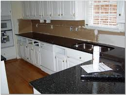 Home Depot Cabinet Paint Granite Countertop Updating White Cabinets Removable Backsplash