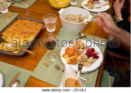 Traditional Thanksgiving Meal Traditional Thanksgiving Dinner Usa Stock Photo Royalty Free