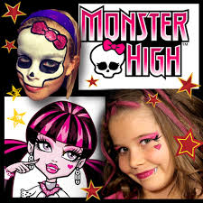 monster high face paint makeup designs free video tutorial youtu