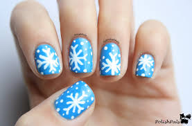 snowflake design nails with others snowflake nail art 6