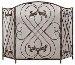 Fireplace Metal Screen by Uttermost Effie Hand Forged Metal Fireplace Screen 1