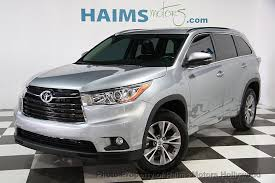 used toyota 2014 2014 used toyota highlander fwd 4dr v6 xle at haims motors serving