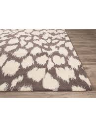 Ikat Outdoor Rug by Kate Spade New York Gramercy Leopard Ikat Rug Gray Rugs