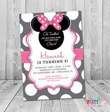 minnie mouse 3rd birthday invitation minnie mouse birthday