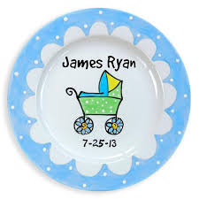 baby birth plates personalized ceramic birth plates personalized keepsake new baby gift