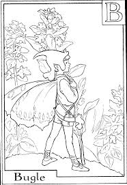print letter b for bugle flower fairy coloring page or download