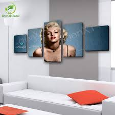 5 panel marilyn monroe oil canvas painting picture wall art home
