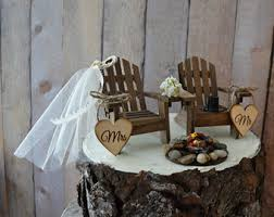themed wedding cake toppers country adirondack chair wedding cake topper cing fishing