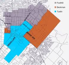 foothill cus map city of tustin california education