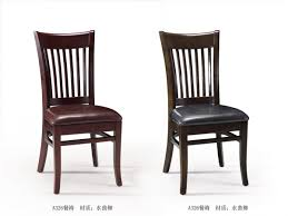 Black And Cherry Wood Dining Chairs Traditional Casual Dinette Decor With 2 Pieces Upholstery Leather
